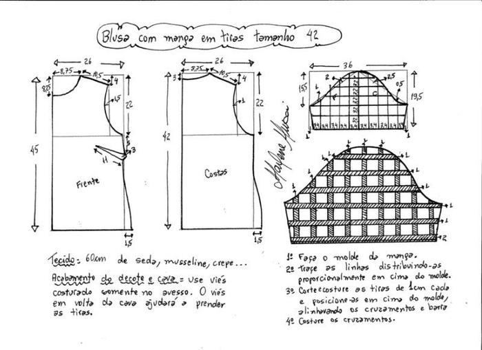 Блуза с рукавами сеткой (4) (700x509, 147Kb)