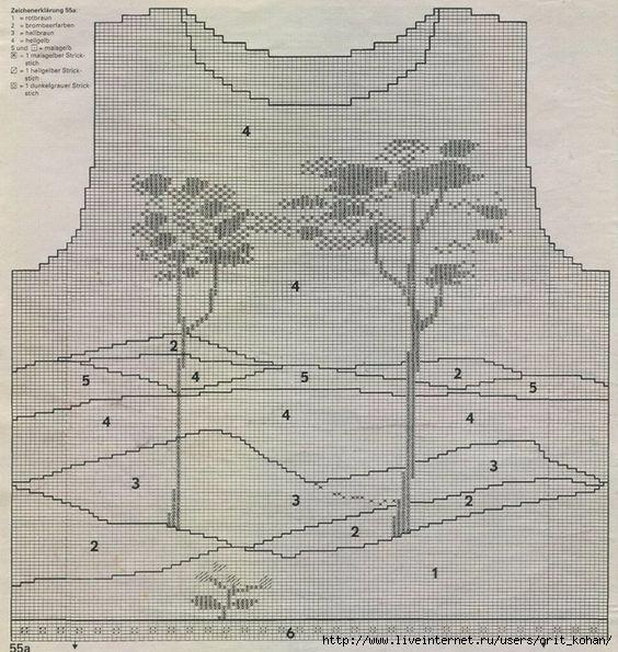сосны - схема (564x595, 220Kb)