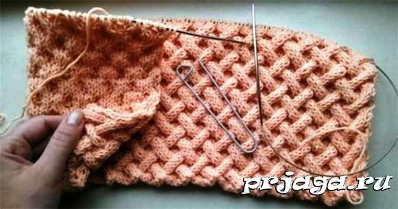 Поиск на Постиле: узор плетенка спицами схема 27