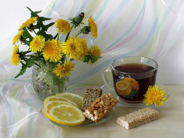детям утренний чай открытка бесплатно