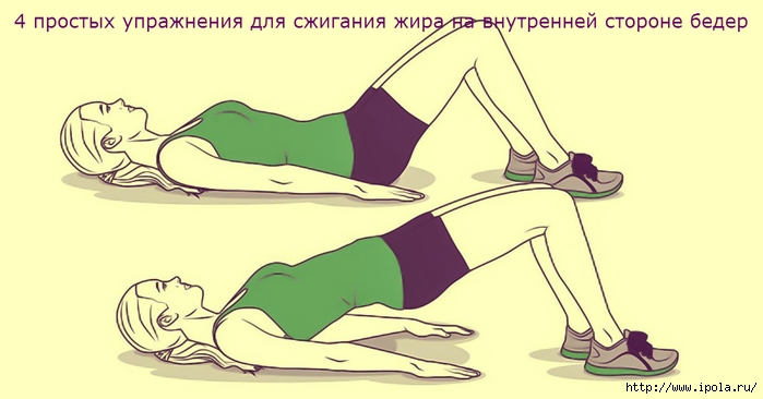 упражнения для сжигания жира внутри бедер