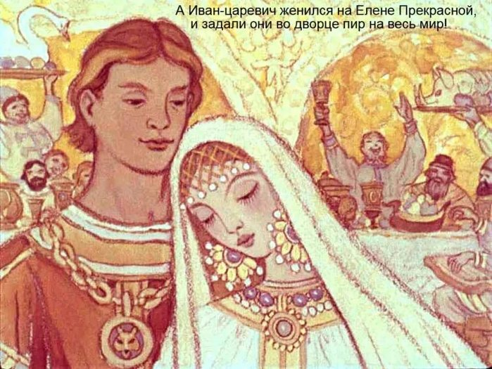 Рисунок свадьба ивана царевича и елены прекрасной