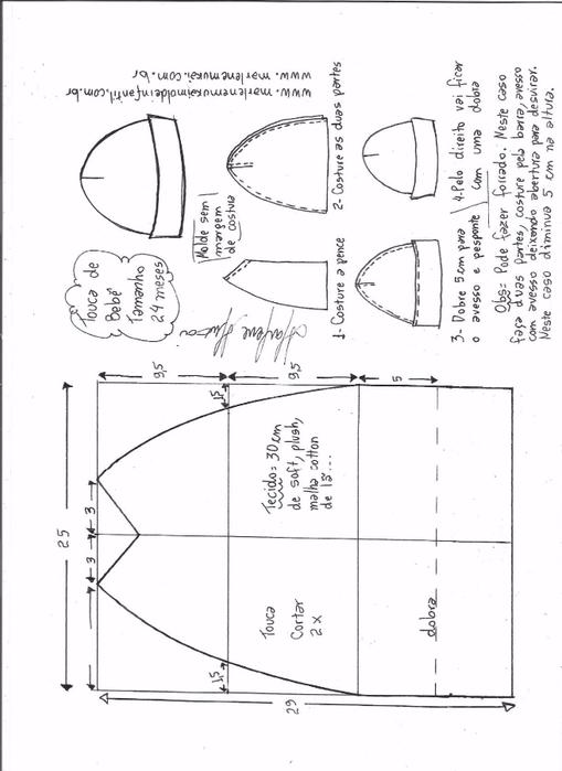 Летняя трикотажная шапочка для малышки (7) (509x700, 167Kb)
