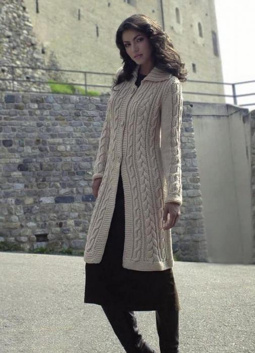вязаные пальто для женщин спицами схемы и подборка моделей для