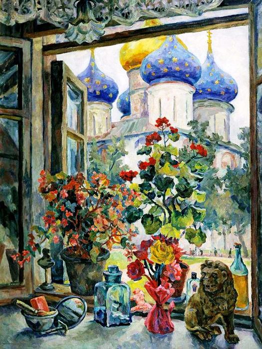1 Александр Осмёркин «Вид из окна на Троице-Сергиеву лавру» 1947 (525x700, 543Kb)