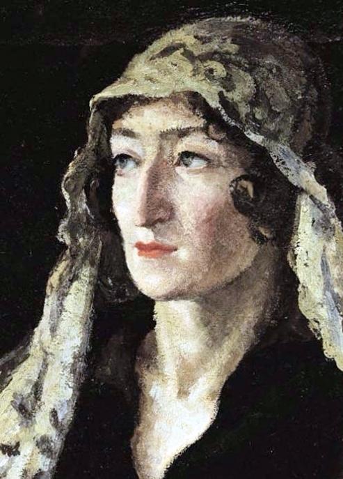 5 Портрет Екатерины Барковой. 1921 (493x687, 343Kb)