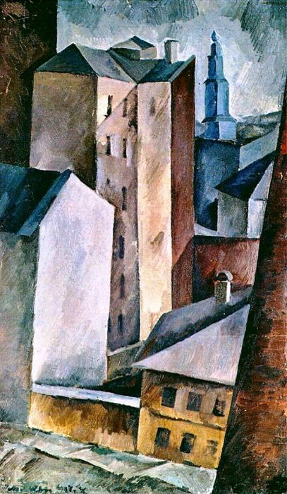 10 Александр Осмёркин «Дома в городе» 1917 г. (407x700, 411Kb)