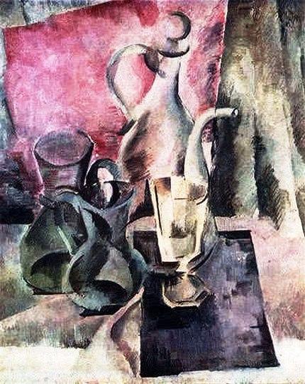 12 Александр Осмёркин «Кувшин на розовом фоне» 1918 г. (430x541, 224Kb)