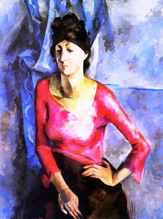 21 Александр Осмёркин «Портрет Е.Т.Барковой» 1921 г. (520x700, 540Kb)