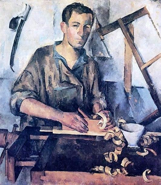 23 Александр Осмёркин «Столяр» 1921 г. (532x610, 310Kb)