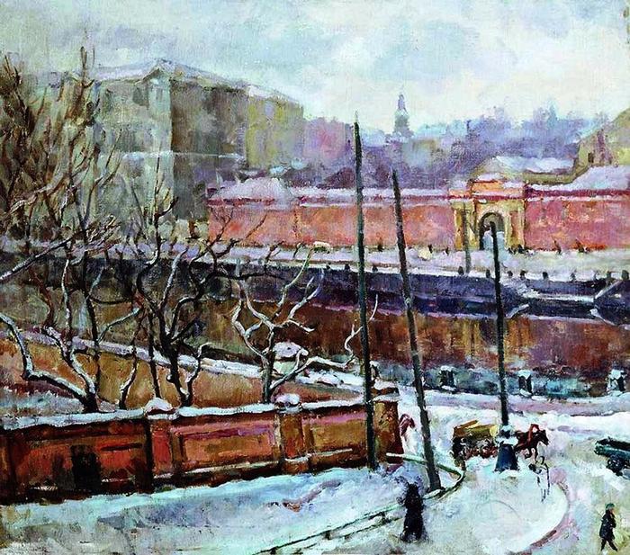 33 Александр Осмёркин «Ленинград. Фонтанка» (700x617, 569Kb)