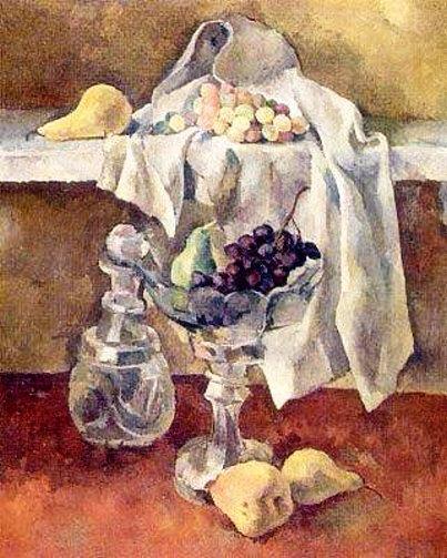 37 Натюрморт с фруктами и виноградом. 1923 (403x503, 205Kb)