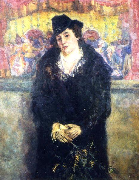 48 Александр Осмеркин. Портрет Елены Константиновны Гальпериной, жены художника. 1939–1940. Холст (466x600, 245Kb)