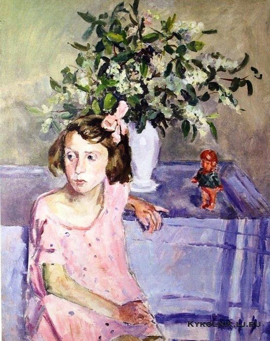 53 Осмёркин Александр Александрович (1892-1953) «Портрет дочери (Лидия Осмеркина)» 1947 (554x700, 510Kb)