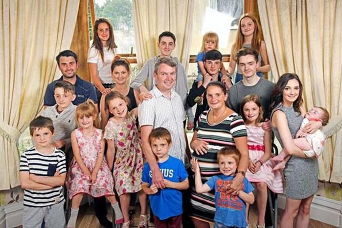 В самой многочисленной семье Великобритании родился 20-й ребенок