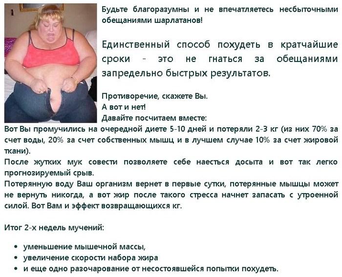 Способ быстрого похудения