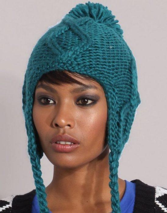 Вязание спицами шапки- ушанки. Обсуждение на LiveInternet ...