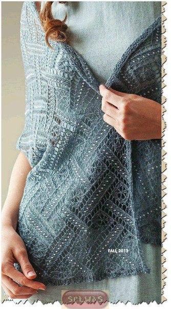 вязание на спицах платкишалипалантины записи в рубрике вязание