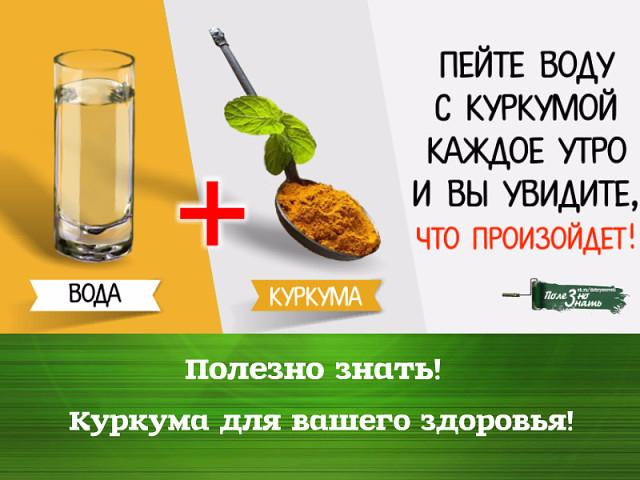 Как пить воду с куркумой каждое