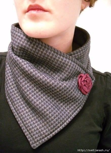 шарф из драпа