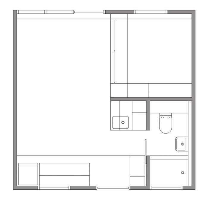 138244515 111117 0901 XXI47 Интерьер квартиры площадью 24 квадратных метра в Сиднее