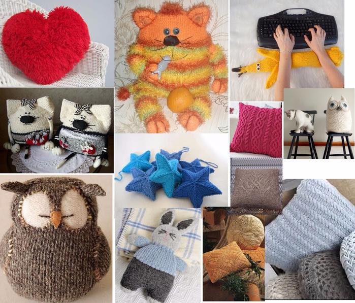 вязание декоративные подушки диванные игрушки чехлы схемы с