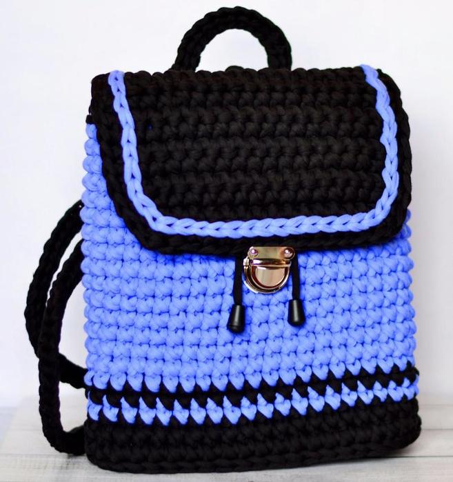 рюкзак крючком из трикотажной пряжи обсуждение на Liveinternet