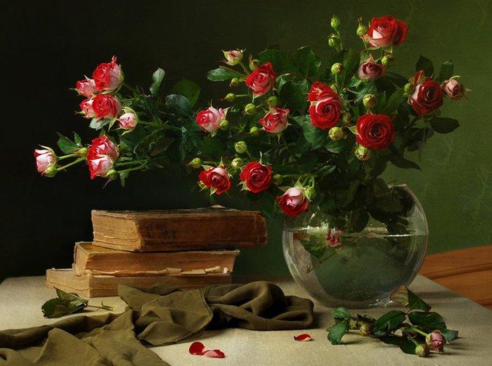 шляпка, розы, картина скачать