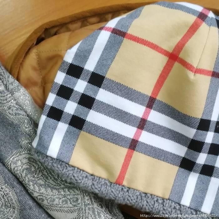 как рассчитать подклад для вязаной шапки автор наталья иванова я