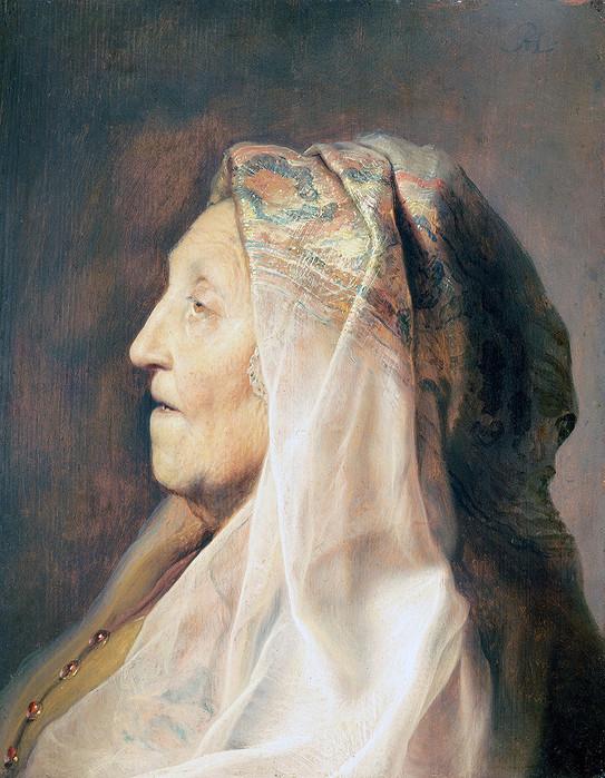 12 Мать Рембрандта в профиль, ок. 1630 (543x700, 157Kb)