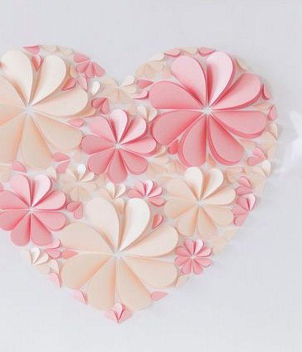 Открытки цветы из сердечек, картинки