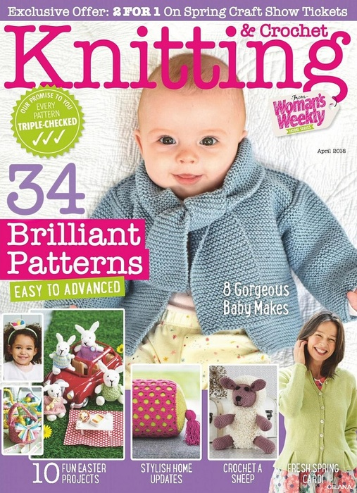 Knitting & Crochet from Womans Weekly №4 2018.