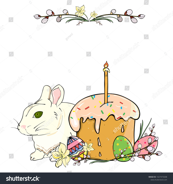 stock-vector-easter-card-with-easter-cake-white-rabbit-pussy-willow-narcissus-and-colorful-eggs-hand-drawing-1027473208 (656x700, 251Kb)