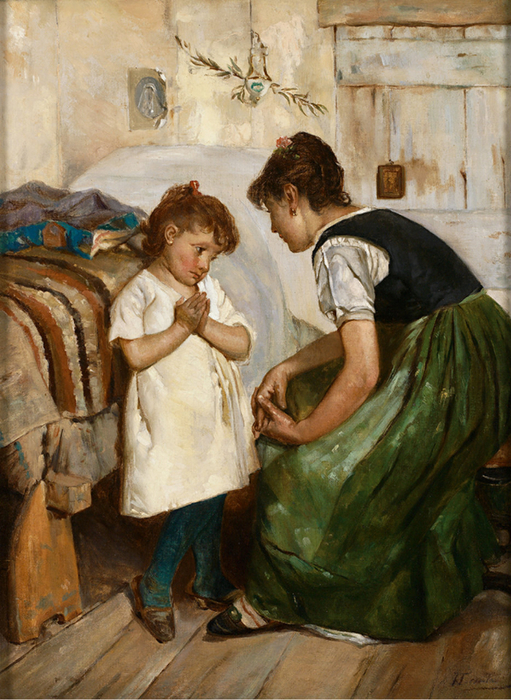 Luigi_da_Rios_Mother_with_children,_scene_from_Venice (511x700, 478Kb)