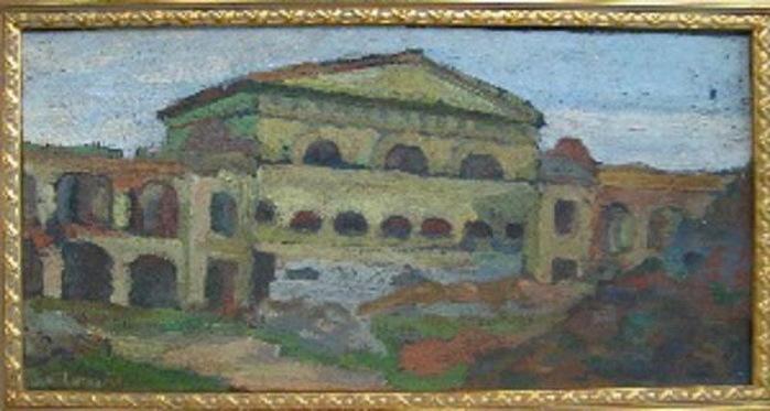 1926 Литовский замок. Холст, масло. 25,5х50,5 см. (700x373, 81Kb)