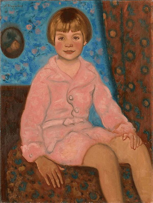 1934 Портрет ребёнка в розовом. Холст, масло. 61х46 см. Частное собрание. (526x700, 138Kb)