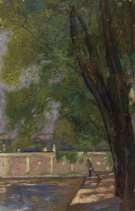 1938 Иль Сен-Луи, Париж. К, м. 52х33,5 cm. ЧС (447x700, 145Kb)