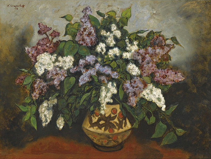 1938 Букет сирени. К, м. 60 x 80,5 см. Аукцион Sotheby's, 2011 (700x527, 398Kb)