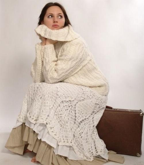 вязание в бохо стиле вязанный кардиган пальто юбка в стиле бохо