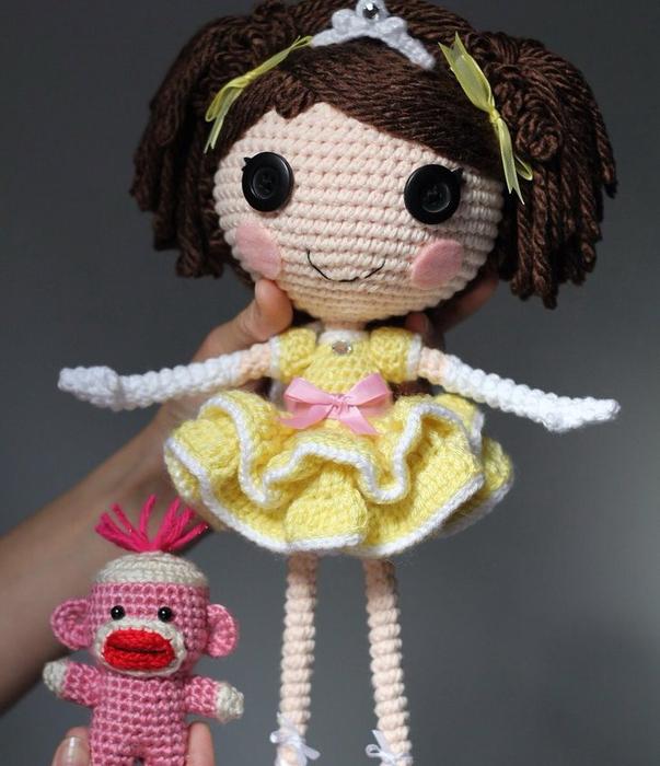 Куклы Лалалупси крючком: мастер-классы, схемы и описания