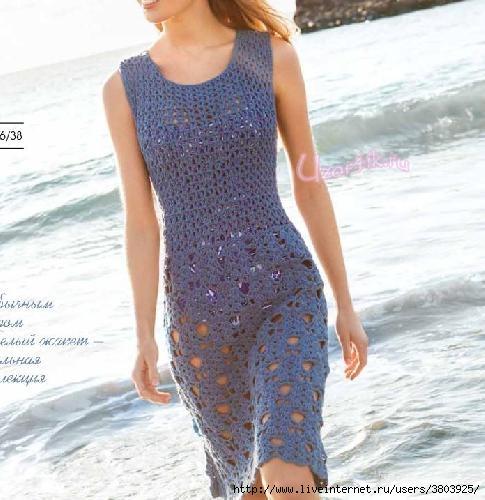 8e7882c4ff7 Летнее платье крючком - модное