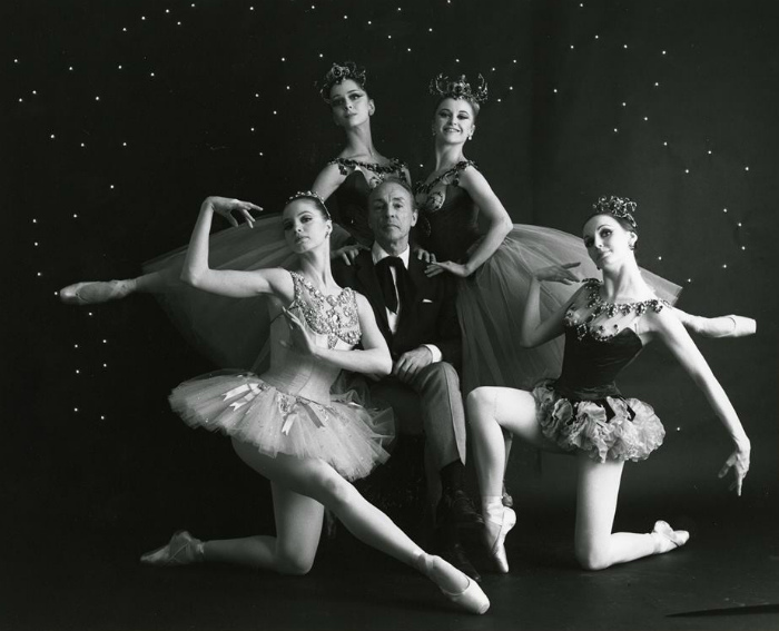 Balanchine with Farrell McBride Mimi Paul & Verdy in promo for 'Jewels', phot by Martha Swope (700x567, 112Kb)
