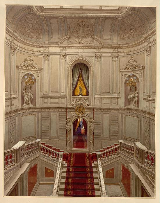 Premazzi._Mansion_of_Baron_Stieglitz._Main_Staircase_(1)._1871 (550x700, 468Kb)