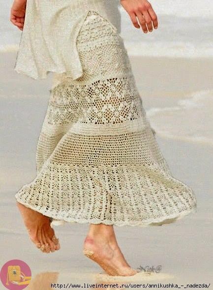 Летняя юбка крючком. ___схемы узоров. без описания