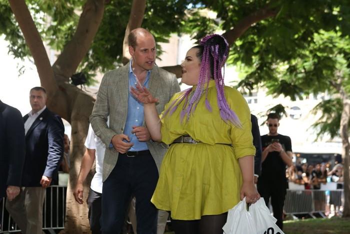 Принц Уильям прогулялся с победительницей «Евровидения» по улицам Тель Авива
