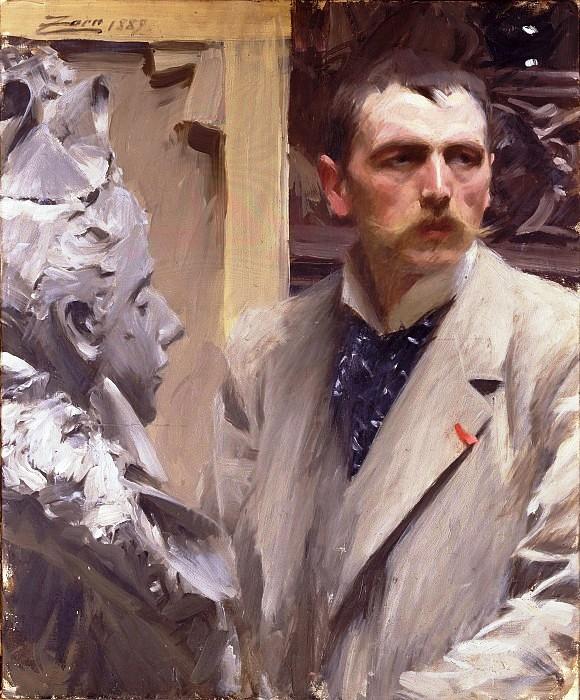 3 Андерс Цорн Автопортрет 1882 г. Национальный музей, Стокгольм (580x700, 341Kb)