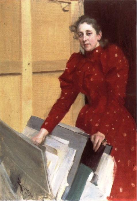 9а Портрет Эммы в парижской студии 1894 (477x700, 355Kb)
