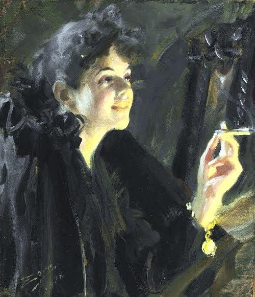 22 Андерс Леонард Цорн (1860-1920) Женщина с сигаретой (500x581, 174Kb)