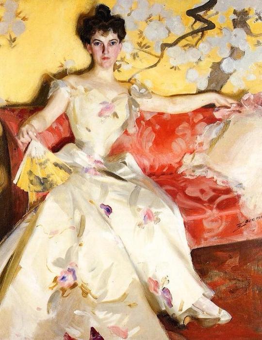 24 Portrait of Elizabeth Sherman Cameron - Андерс Цорн. (540x700, 443Kb)