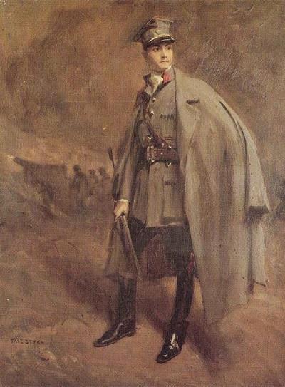 Tadeusz Styka - Portrait of Adam contacts in uniform Hallerczyk (400x543, 103Kb)